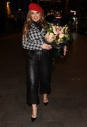 Kelly Brook Pictured at Heart radio on her birthday in London