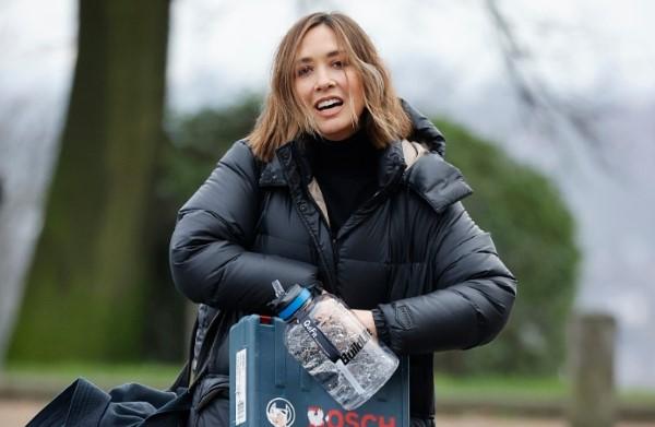 Myleene Klass Leaving the rink after training in London