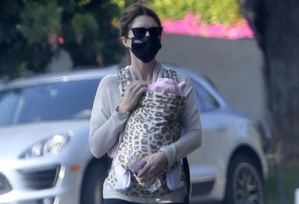 Katherine Schwarzenegger Walks Baby Lyla on Thanksgiving