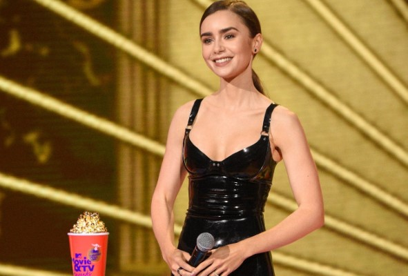 Lily Collins 2020 MTV Movie and TV Awards