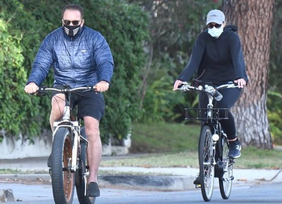 Christina Schwarzenegger Bike riding in Santa Monica