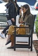 Jordana Brewster Chats on her phone