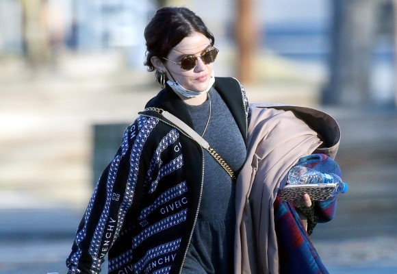 Lucy Hale Spends her day off from filming shopping