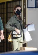 Lily Collins Visits the post office 3