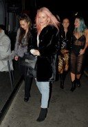 Lottie Moss Spotted arriving at Xier restaurant