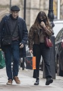 Daisy Edgar Jones Out for some last minute Christmas shopping with her father Philip in London