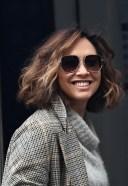 Myleene Klass Looks chic in wool jumper and smart blazer at Smooth radio in London 3