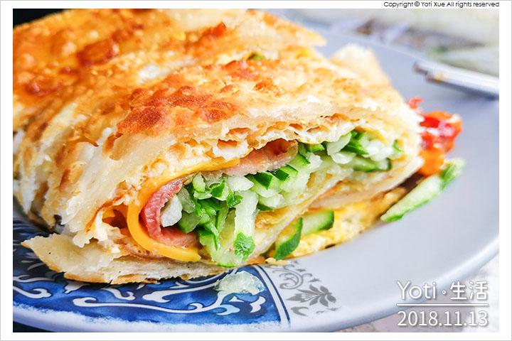 [花蓮美崙] 文華早餐專賣店 | 酥皮蛋餅與燒餅!在地人推薦的中式早點之一