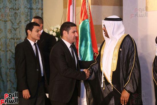 الزميل يوسف أيوب رئيس التحرير التنفيذى يهنئ سفير الأمارات بالعيد الوطنى
