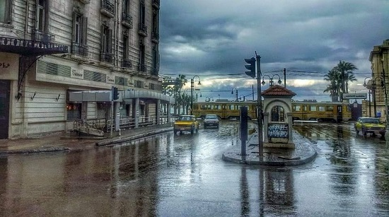 غرق شوارع اسكندرية فى الشتاء