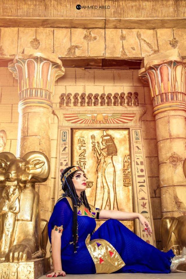 الفنانة ميرنا وليد فى اطلالة فرعونية  (2)