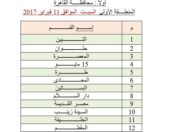 محافظة القاهرة المنطقة الأولى
