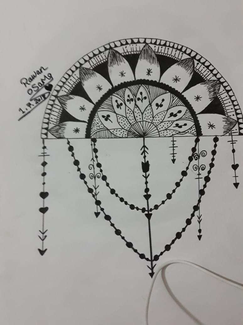 قارئة فنانة تشارك بصور تبرز مهارتها فى رسومات المانديلا