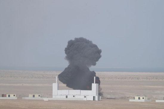 قصف ميدانى ضمن فعاليات تمرين درع الخليج المشترك 1