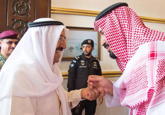 ولى العهد السعودى فى استقبال أمير الكويت