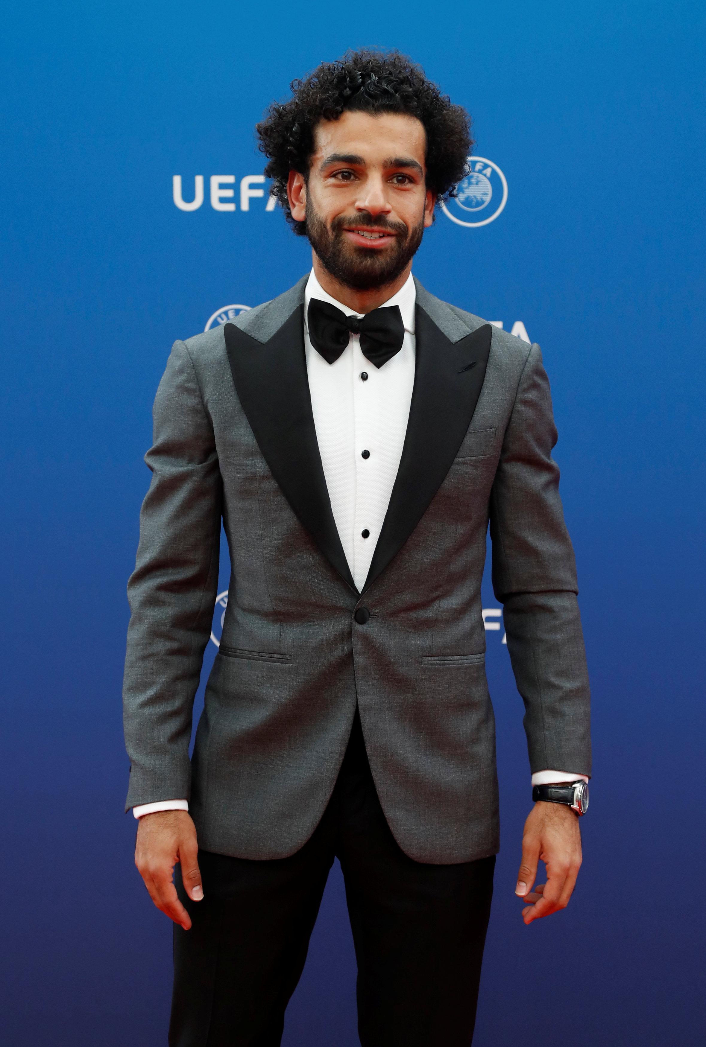 أول ظهور رسمى لمحمد صلاح فى حفل افضل لاعب فى اوروبا 2018