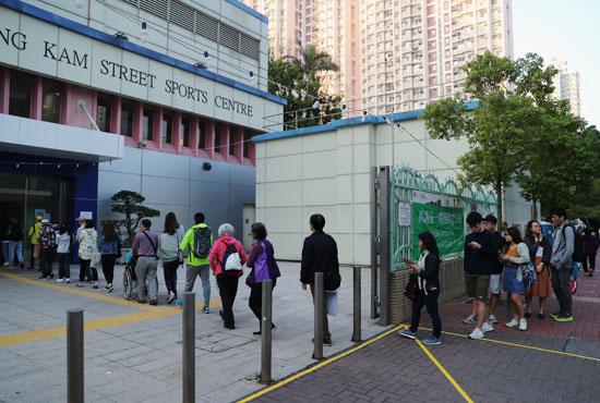 انطلاق الانتخابات المحلية فى هونج كونج