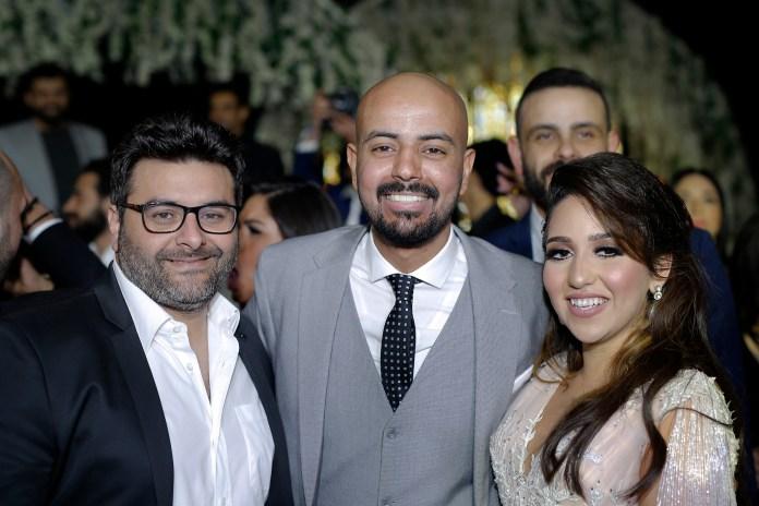 Walid Mansour avec la mariée
