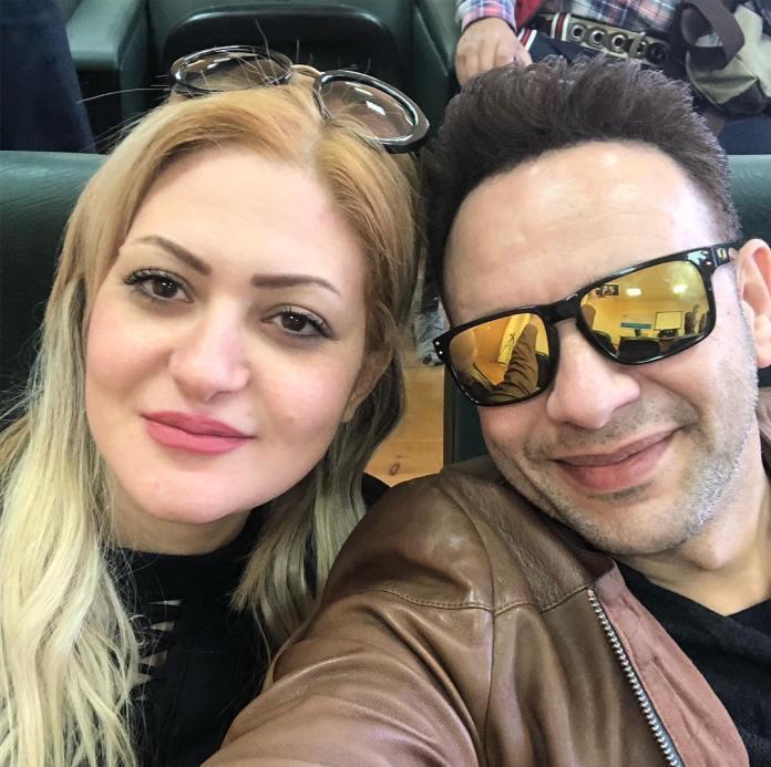 Mustafa Amar with his wife