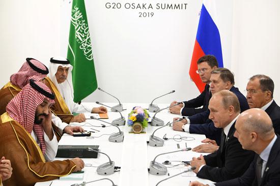 مباحثات بين ولى العهد السعودى والرئيس الروسى