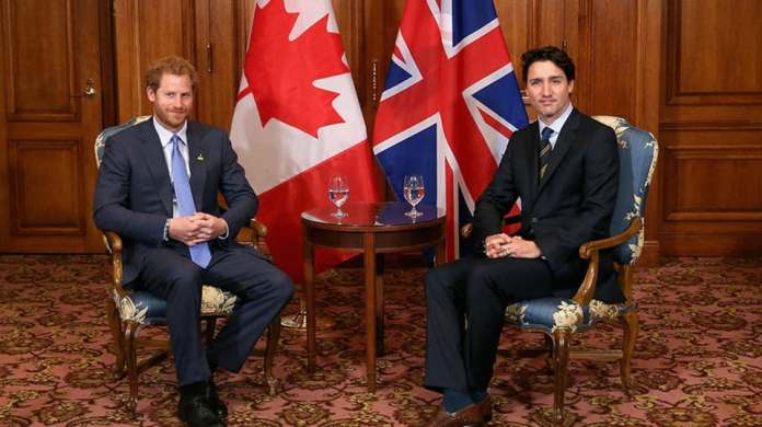 Prime Minister of Canada and Prince Harry
