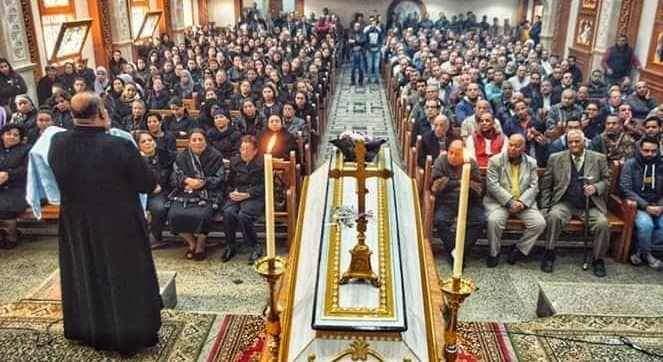 Funeral of the bride of paradise Dr. Samah Nabil Shahida Microbus Doctors of Menia (2)