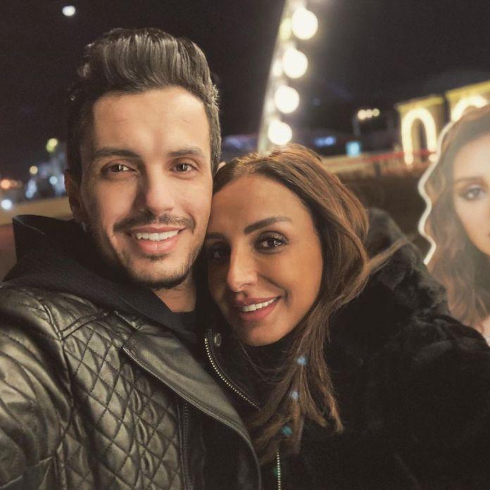 Angham and her distributor husband Ahmed Ibrahim