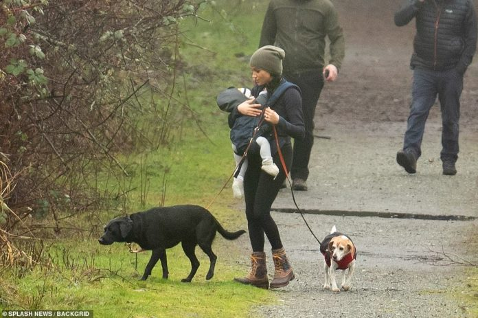 Megan Markle wanders with her dogs and baby Archie