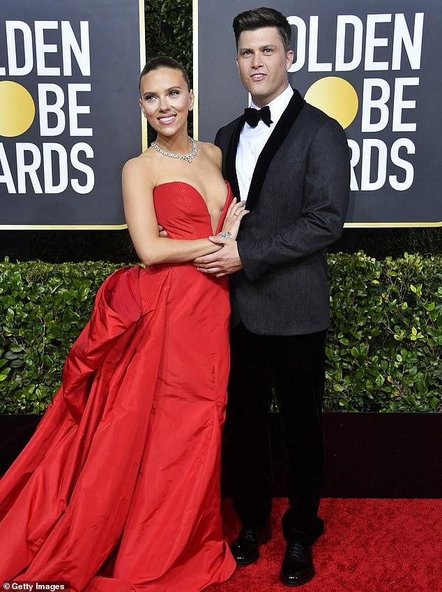 Scarlett Johansson with Colin Ghost