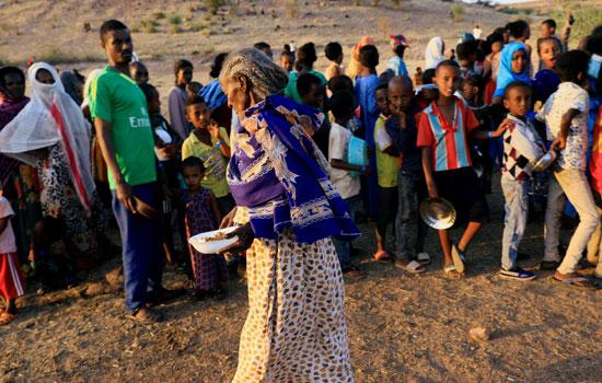 لاجئون اثيوبيون