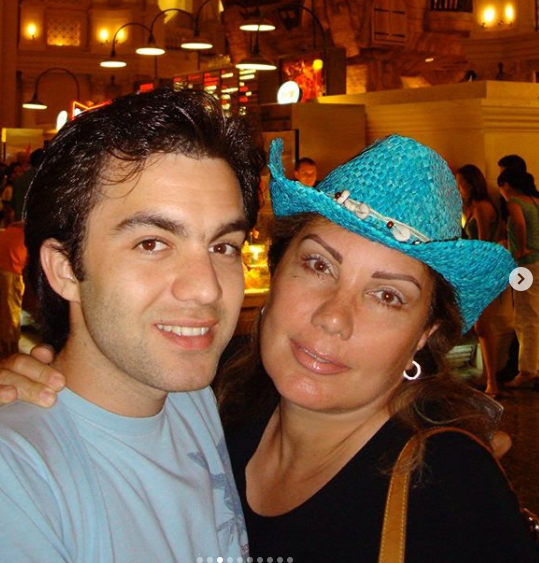 Sherif Ramzy with his mother