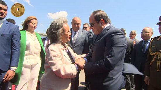 مراسم-استقبال-رسمية-السيسي-بأثيوبيا-قبل-قمة-الاتحاد-الأفريقى-(2)