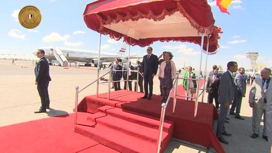 مراسم-استقبال-رسمية-السيسي-بأثيوبيا-قبل-قمة-الاتحاد-الأفريقى-(4)
