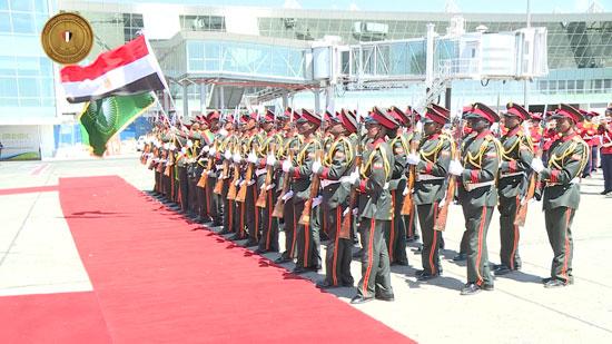 مراسم-استقبال-رسمية-السيسي-بأثيوبيا-قبل-قمة-الاتحاد-الأفريقى-(3)