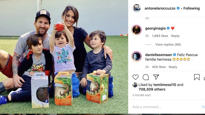 Georgina interacted with Messi's family