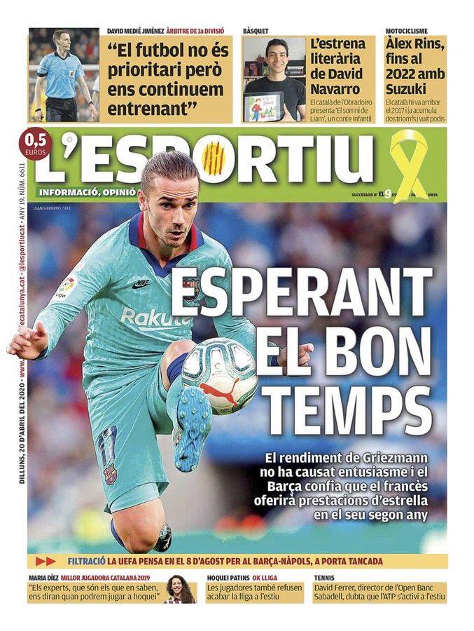 El periódico español Sportío.