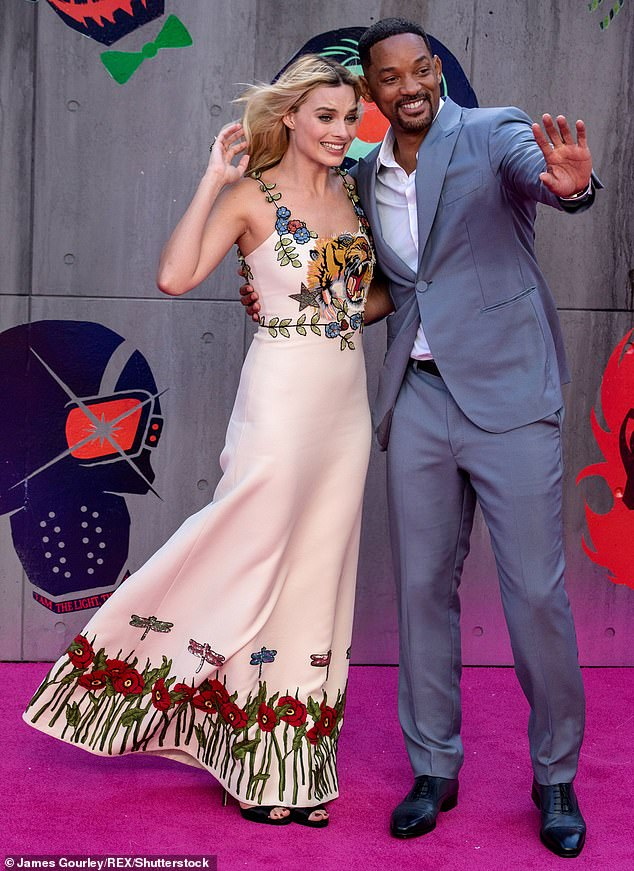 Margot Robbie and Will Smith on the red carpet