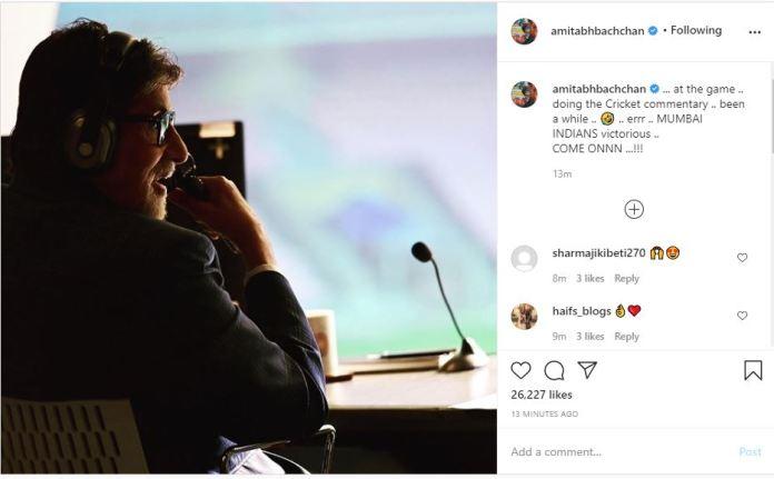 Amitabh Bachchan via Instagram