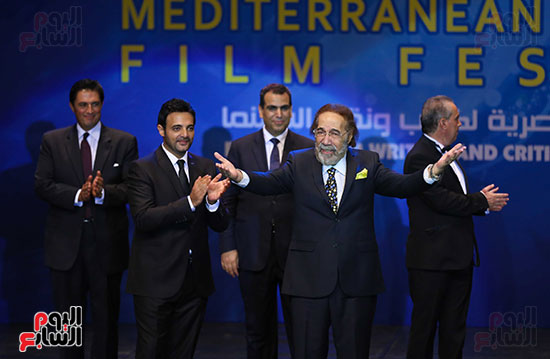 Mahmoud Yassin at the opening of the Alexandria Festival
