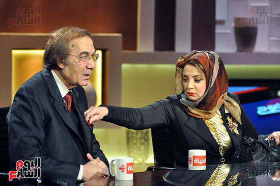 Mahmoud Yassin and his wife are famous in one of the programs