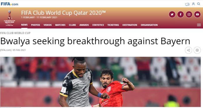 FIFA Report on Bwalia