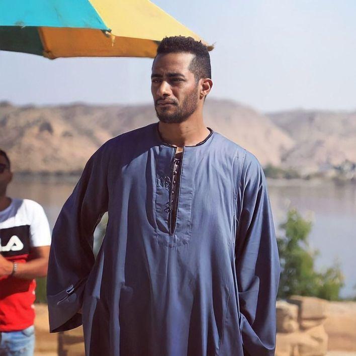 محمد رمضان من اسوان اثناء تصوير موسى