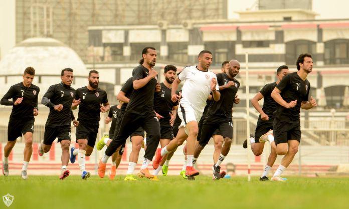 Zamalek players during the running process