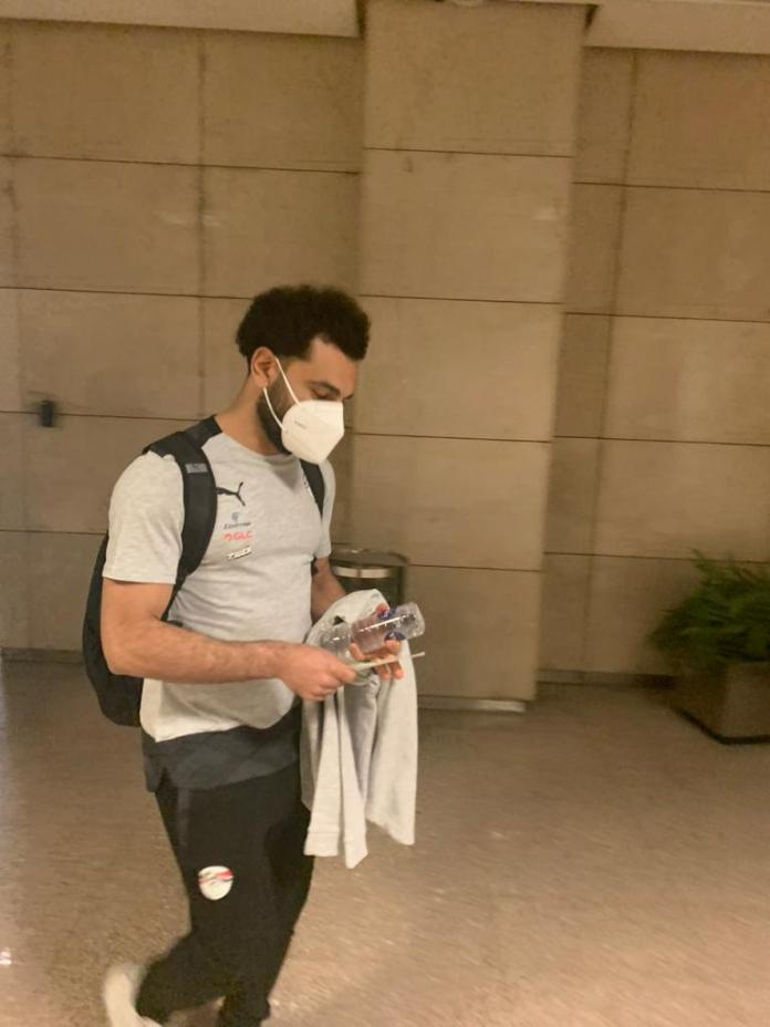 Mohamed Salah at the airport