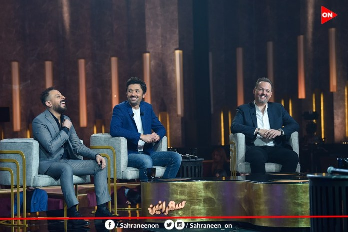 Mohamed and Karim Mahmoud Abdel Aziz and Louai in the episode