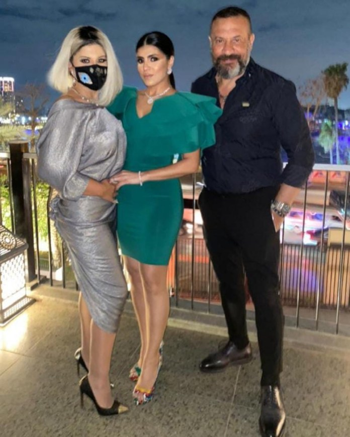 Majed Al-Masry and his wife and Bossi Shalaby