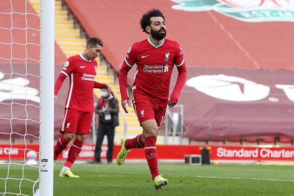 Mohamed Salah celebrated his goal