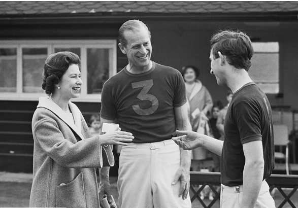 Queen Elizabeth, Prince Philip and Charles
