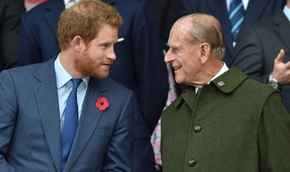 Prince Harry and his grandfather, Prince Philip