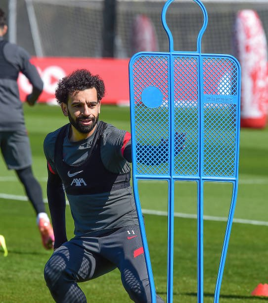 Mohamed Salah in Liverpool training (2)